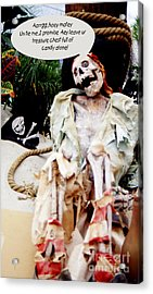 Tied Up Pirate Acrylic Print by Gary Brandes
