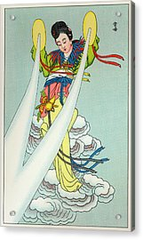 Tien-mou The Mother Of Lightning Acrylic Print by Mary Evans Picture Library