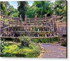 Tiered Fountain Acrylic Print by Terry Reynoldson