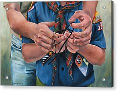 Ties That Bind Acrylic Print by Lori Brackett