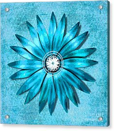 Tiffany Blue And Diamonds Too Acrylic Print by Saundra Myles