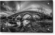 Tiffany Bridge Monochrome Acrylic Print