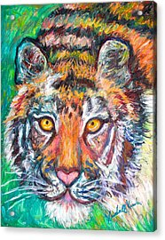 Tiger Lean Acrylic Print by Kendall Kessler
