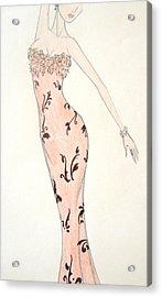 Tiger Lily Dress Acrylic Print by Christine Corretti