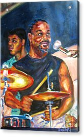 Tiger On Drums Acrylic Print