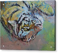 Tiger Play Acrylic Print by Michael Creese