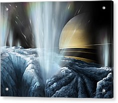 Tiger Stripes The Icy Jets Of Enceladus Acrylic Print
