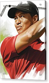 Tiger Woods Artwork Acrylic Print