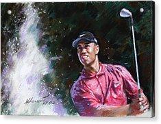 Tiger Woods  Acrylic Print by Viola El