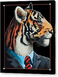 Acrylic Print featuring the digital art Tigerman by Scott Ross