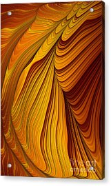 Tiger's Eye Abstract Acrylic Print by John Edwards