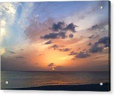 Tiki Beach Caribbean Sunset Acrylic Print
