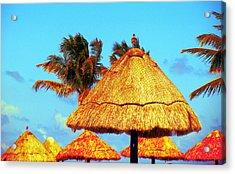 Tiki Huts Acrylic Print