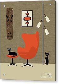 Tiki On The Wall Acrylic Print