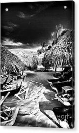 Tiki Zone Acrylic Print by John Rizzuto