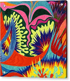 Tile 36 - The Georgia O'keeffe Incident  Acrylic Print by Sean Corcoran