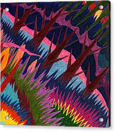 Tile 37 - These Woods Are Lovely Acrylic Print by Sean Corcoran