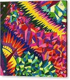 Tile 38 - The Montevideo Wavelength Episode Acrylic Print by Sean Corcoran