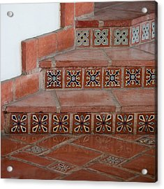 Tiled Stairway Acrylic Print by Art Block Collections