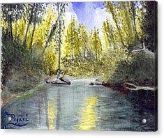 Tillamook Fishing Acrylic Print