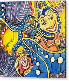 Tillies Funhouse Design Acrylic Print by Patricia Arroyo