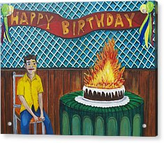 Tillies Last Birthday Party Acrylic Print by Patricia Arroyo