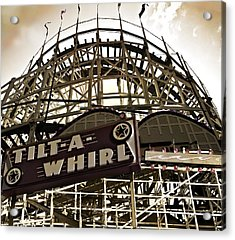 Tilt-a-whirl Acrylic Print by Larry Butterworth