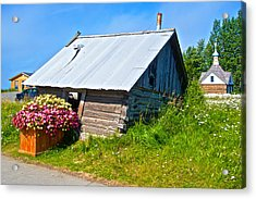Tilted Shed In Old Town Kenai-ak Acrylic Print by Ruth Hager