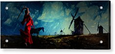 Tilting At Windmills Acrylic Print by Galen Valle