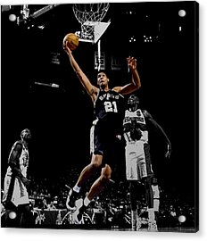 Tim Duncan All Star Game Acrylic Print by Brian Reaves