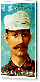 Tim Keefe New York Metropolitans Baseball Card 0128 Acrylic Print by Wingsdomain Art and Photography