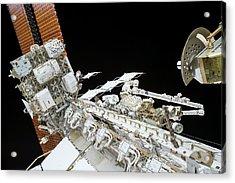 Tim Kopra's Spacewalk Acrylic Print