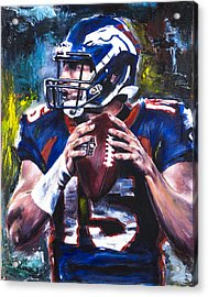 Tim Tebow Acrylic Print by Mark Courage