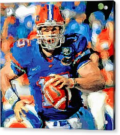 Tim Tebow Mr. Florida Gator Acrylic Print by John Farr