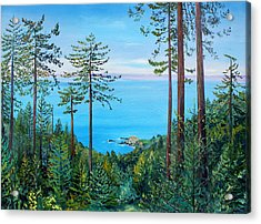 Timber Cove On A Still Summer Day Acrylic Print by Asha Carolyn Young