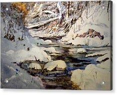 Timber Creek Winter Acrylic Print by Joseph Barani