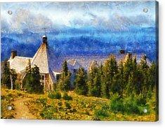 Timberline Lodge Acrylic Print by Kaylee Mason