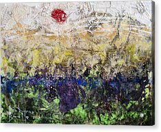 Acrylic Print featuring the painting Time And Place by Ron Richard Baviello