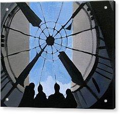 Time And Space Acrylic Print by Ingela Christina Rahm