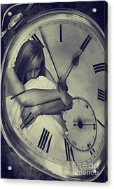 Time Constraint Acrylic Print by Amanda Elwell