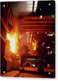 Time Exposure Photo Of Blast Furnace Acrylic Print