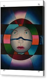 Time Face Acrylic Print by Extranjerocus