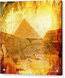 Time Fears The Pyramids Acrylic Print
