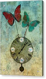 Time Flies Acrylic Print by Aimelle