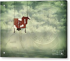 Time Flies Acrylic Print by Jutta Maria Pusl