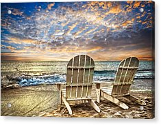 Time For Happy Hour Acrylic Print by Debra and Dave Vanderlaan