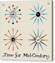 Time For Mid-century Acrylic Print