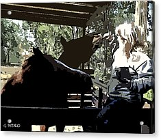 Time For Treats At The Run In Shed Acrylic Print by George Pedro