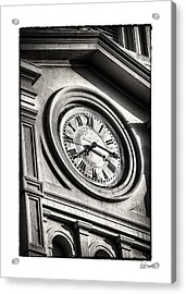 Time In Black And White Acrylic Print