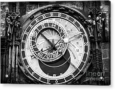 Time In Prague Acrylic Print by John Rizzuto